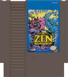 Cartridge artwork for Zen: Intergalactic Ninja on the Nintendo NES.