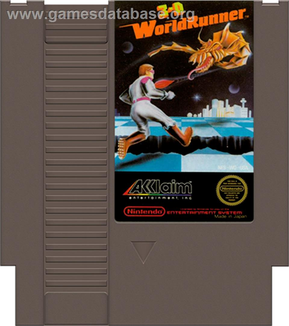 3D World Runner - Nintendo NES - Artwork - Cartridge