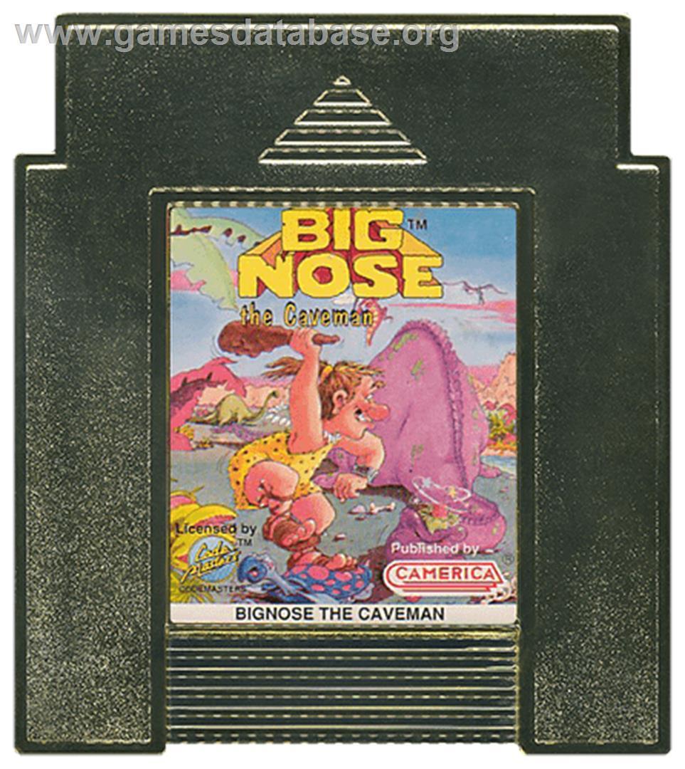 Cartridge artwork for Big Nose the Caveman on the Nintendo NES.