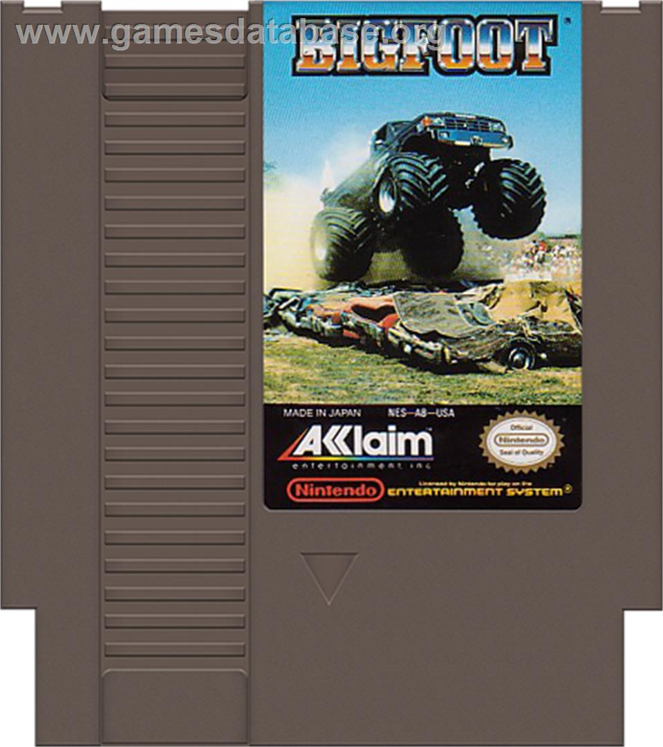 Bigfoot - Nintendo NES - Artwork - Cartridge