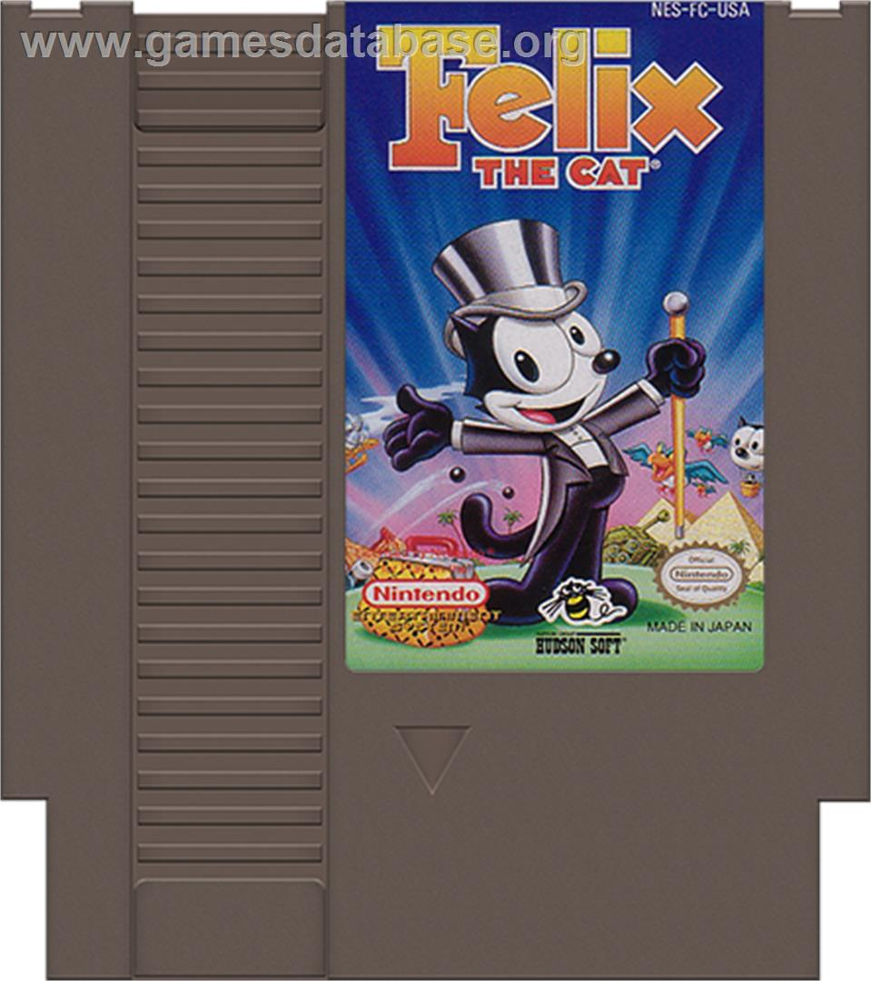 Felix the Cat - Nintendo NES - Artwork - Cartridge