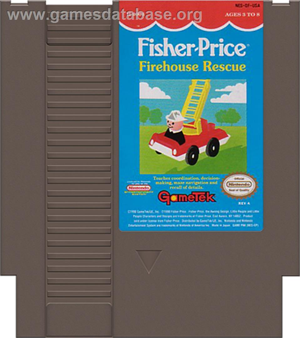 Fisher-Price: Firehouse Rescue - Nintendo NES - Artwork - Cartridge