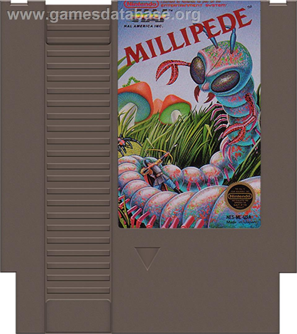 Millipede - Nintendo NES - Artwork - Cartridge