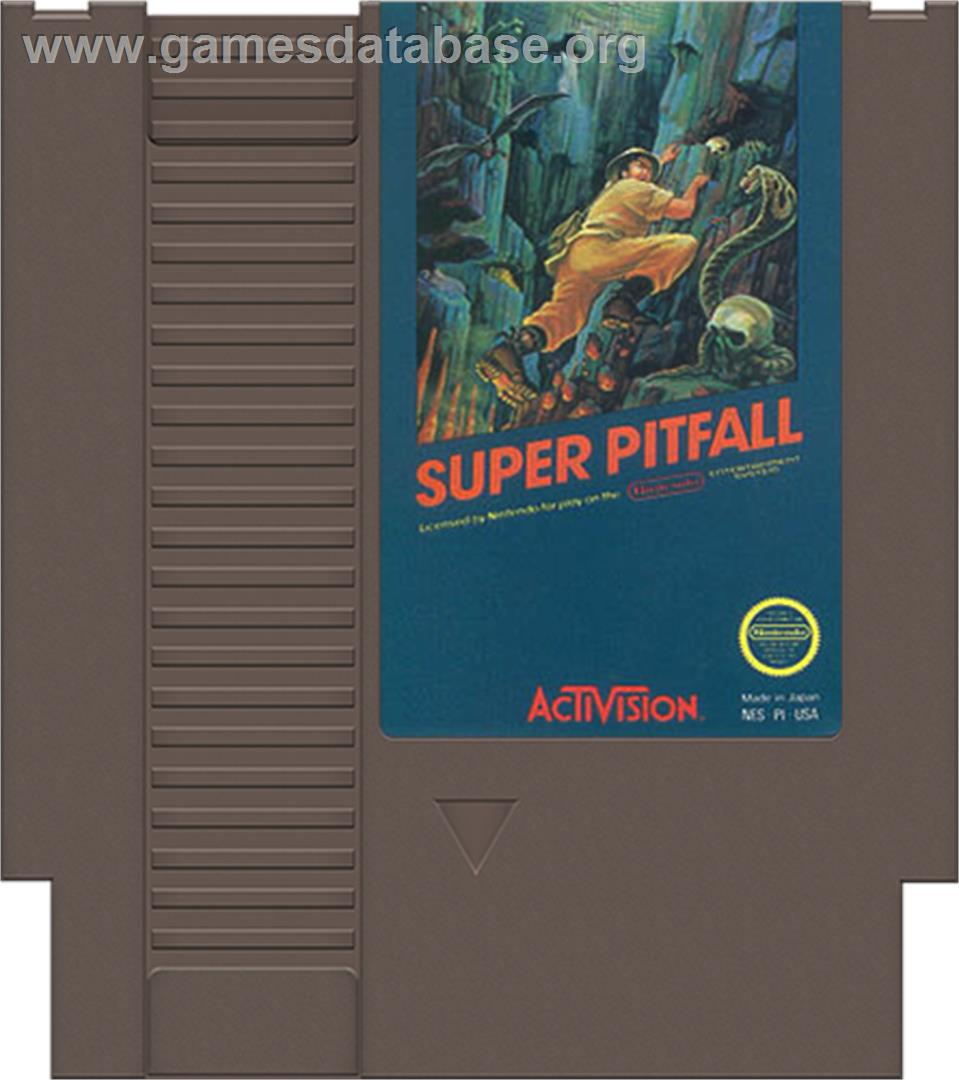Super Pitfall - Nintendo NES - Artwork - Cartridge