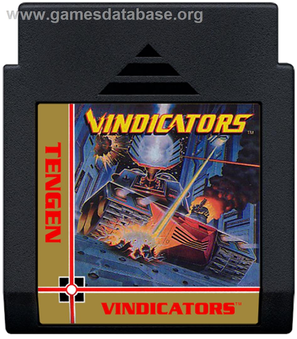 Vindicators - Nintendo NES - Artwork - Cartridge