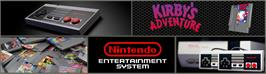 Arcade Cabinet Marquee for Kirby's Adventure.