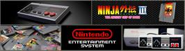 Arcade Cabinet Marquee for Ninja Gaiden III: The Ancient Ship of Doom.