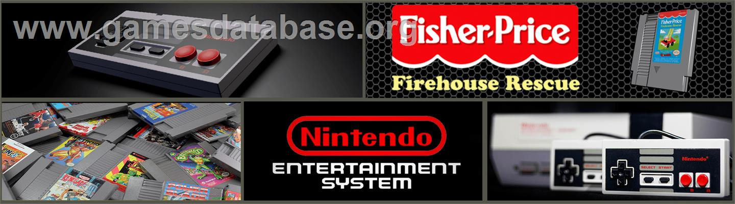 Fisher-Price: Firehouse Rescue - Nintendo NES - Artwork - Marquee
