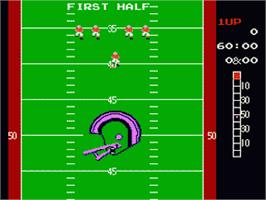 In game image of 10-Yard Fight on the Nintendo NES.
