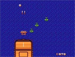In game image of 1943: The Battle of Midway on the Nintendo NES.