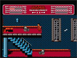 In game image of A Nightmare on Elm Street on the Nintendo NES.