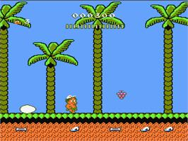 In game image of Adventure Island 2 on the Nintendo NES.