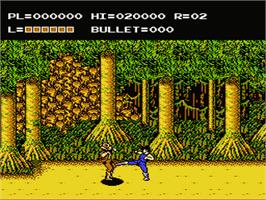 In game image of Adventures of Bayou Billy on the Nintendo NES.