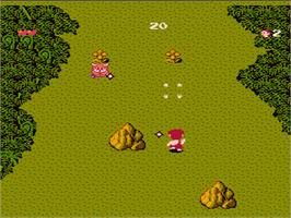 In game image of Adventures of Dino-Riki on the Nintendo NES.