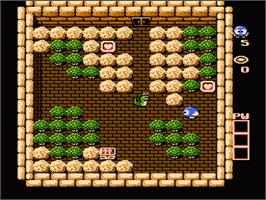 In game image of Adventures of Lolo on the Nintendo NES.