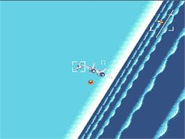 In game image of After Burner on the Nintendo NES.