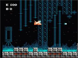 In game image of Air Fortress on the Nintendo NES.