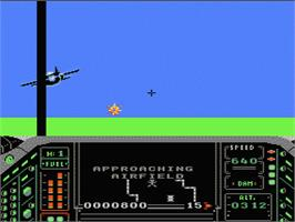 In game image of Airwolf on the Nintendo NES.