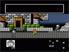 In game image of Akuma-kun: Makai no Wana on the Nintendo NES.