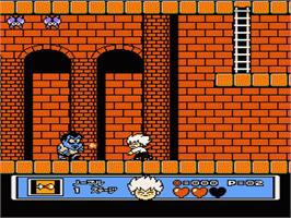 In game image of Akumajo Special: Boku Dracula-kun on the Nintendo NES.