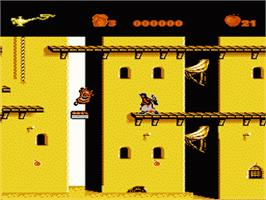In game image of Aladdin on the Nintendo NES.