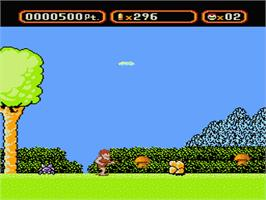 In game image of Amagon on the Nintendo NES.