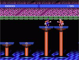 In game image of American Gladiators on the Nintendo NES.