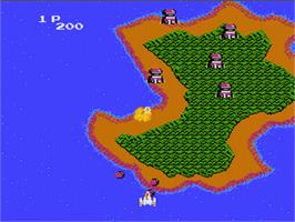 In game image of Argus on the Nintendo NES.