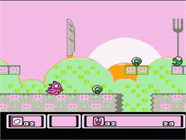 In game image of Asmik-kun Land on the Nintendo NES.
