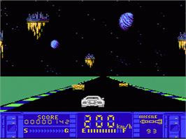 In game image of Astro Fang: Super Machine on the Nintendo NES.
