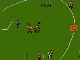 In game image of Aussie Rules Footy on the Nintendo NES.