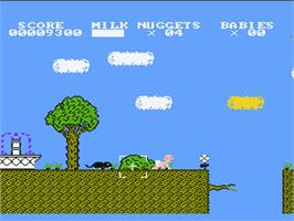 In game image of Baby Boomer on the Nintendo NES.