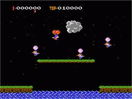 In game image of Balloon Fight on the Nintendo NES.