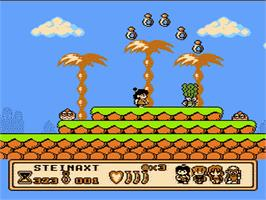 In game image of Banana Prince on the Nintendo NES.