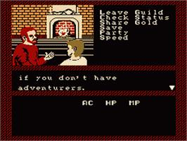 In game image of Bard's Tale: Tales of the Unknown on the Nintendo NES.