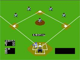 In game image of Baseball on the Nintendo NES.