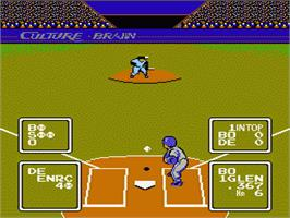 In game image of Baseball Simulator 1.000 on the Nintendo NES.