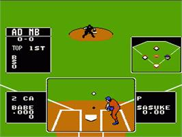 In game image of Baseball Stars on the Nintendo NES.