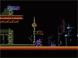 In game image of Batman: The Video Game on the Nintendo NES.