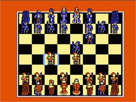 In game image of Battle Chess on the Nintendo NES.