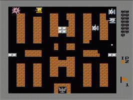 In game image of Battle City on the Nintendo NES.