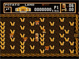 In game image of Bible Buffet on the Nintendo NES.