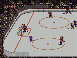 In game image of Blades of Steel on the Nintendo NES.