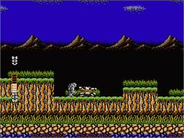 In game image of Blaster Master on the Nintendo NES.