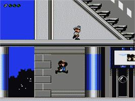 In game image of Blues Brothers on the Nintendo NES.