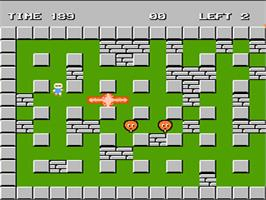In game image of Bomberman on the Nintendo NES.
