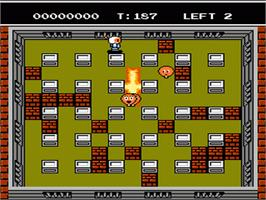 In game image of Bomberman 2 on the Nintendo NES.