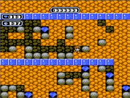 In game image of Boulder Dash on the Nintendo NES.