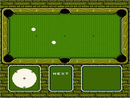 In game image of Break Time: The National Pool Tour on the Nintendo NES.
