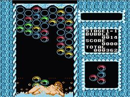 In game image of Bubble Bath Babes on the Nintendo NES.